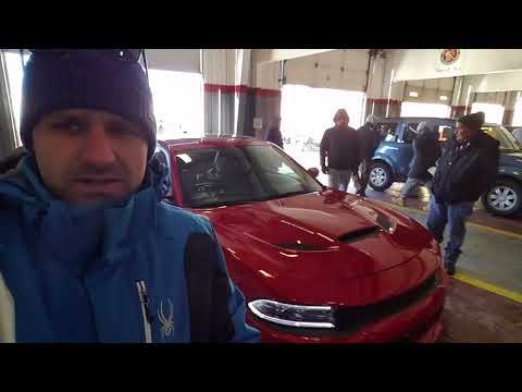 Muscle cars at the dealer Auction in -5 degrees!
