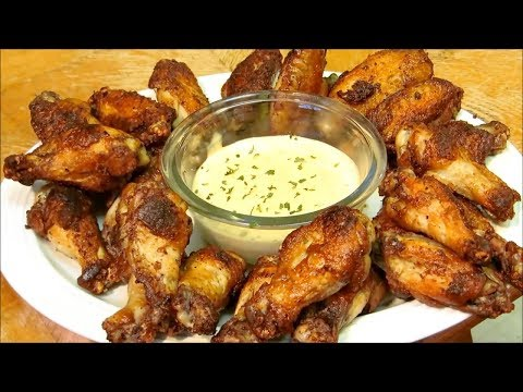 Crispy Cajun Wings with Remoulade Sauce - Great Super Bowl Recipe!