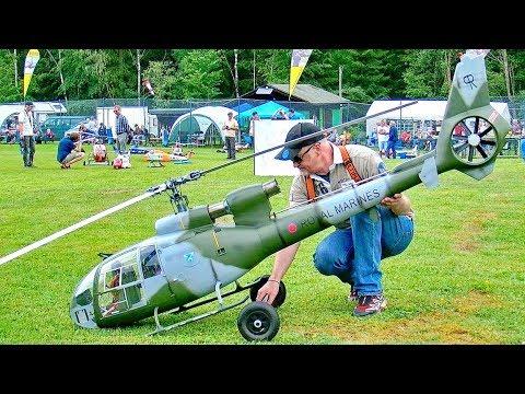 STUNNING AMAZING HUGE RC SA-341/342 GAZELLE SCAE MODEL TURBINE HELICOPTER FLIGHT DEMONSTRATION