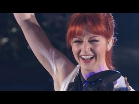 Lindsey Stirling & Lzzy Hale AGT America's Got Talent - Shatter Me 2014 + Pre-show Interview