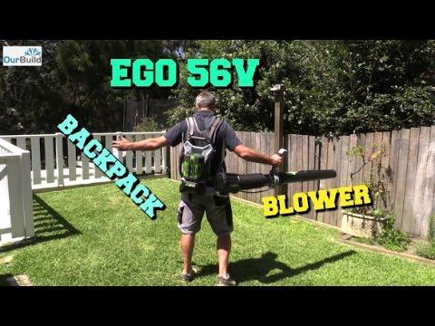 Tool Review - EGO 56V Brushless Back Pack Blower.