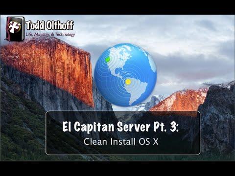 El Capitan Server Pt. 3: Clean Install OS X