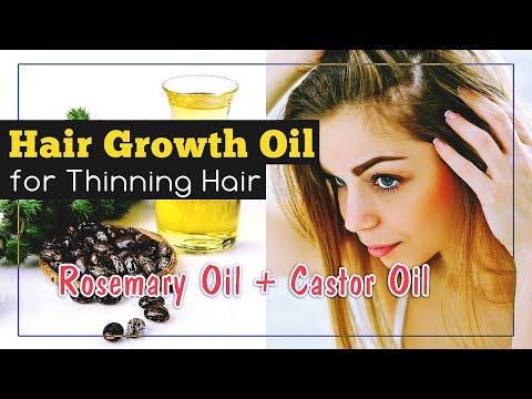 Hair Growth Oil for Thinning Hair (Rosemary + Castor Oil)