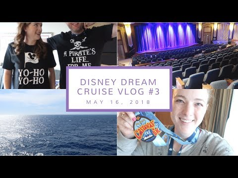 Disney Cruise Vlog Day 3   Castaway Cay Cancelled, Fun on the Ship, + Pirate Night    May 16, 2018