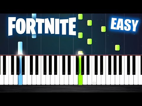 Fortnite Theme - EASY Piano Tutorial by PlutaX
