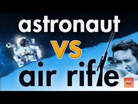 Astronaut vs Air Rifle