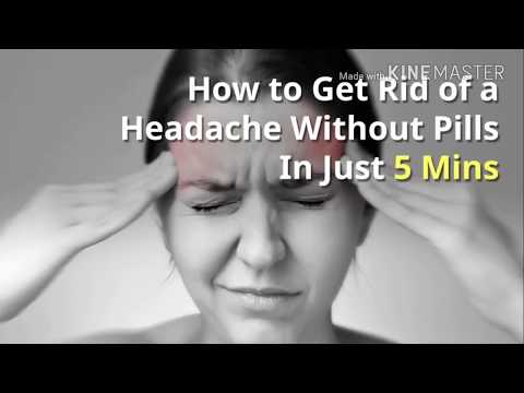 How to get rid of headache without pills in just 5 minutes