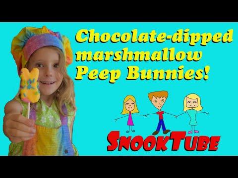 Chocolate dipped, Marshmallow Peep Bunnies- Homemade!