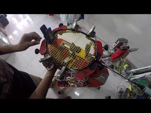 Badminton stringing Racket - Apacs Finapi 232, String - Yonex BG65