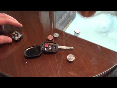 How to replace remote key battery Toyota Camry US model. Years 2013 to 2018