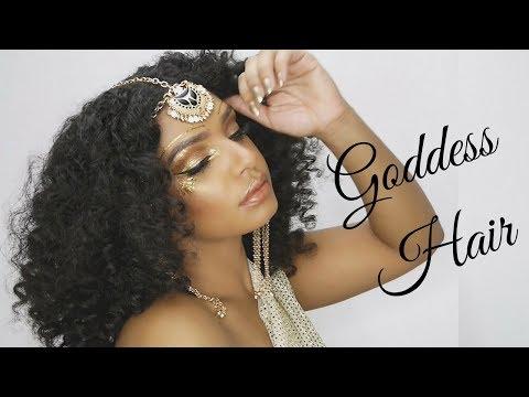 Halloween Inspired Goddess Curls Hair Tutorial