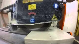 Cutting Stone Samples (2 Layers of Linen- Caesarstone Quartz)