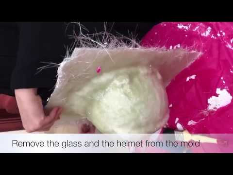 Fabricating a helmet using composite materials ( student project 3-Part 1)