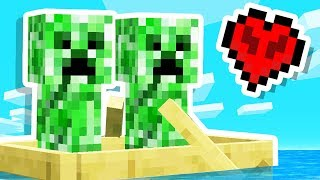 We Found a CREEPER DATE in Minecraft Hardcore!