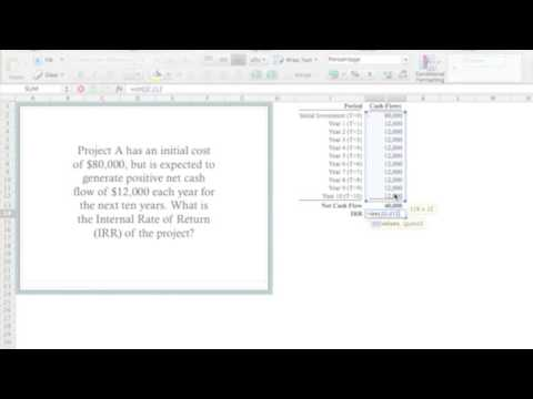 Calculate IRR Using Excel