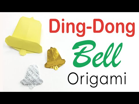 Ding-Dong Bell ✨ Origami Paper Tutorial ✨for Christmas Day✨ - Origami Kawaii 〔#121〕