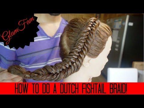 How to do Dutch Fishtail Braids