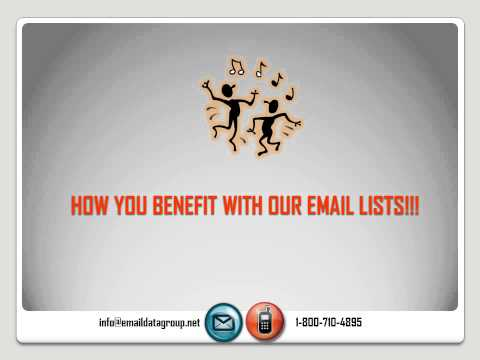 Buy Targeted Email List For Marketing That Generate Sales Leads For Your Business