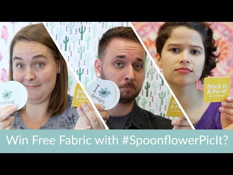 How to Win Free Fabric with #SpoonflowerPicIt?
