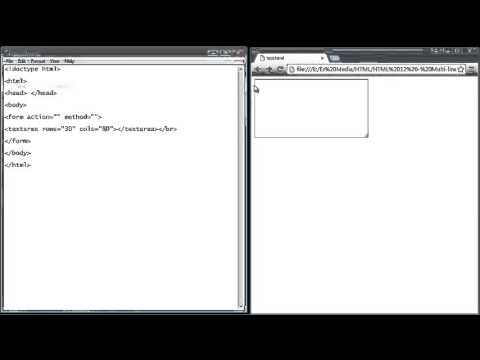 HTML Tutorial for Beginners   12   Multi line text box