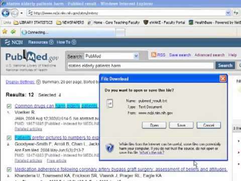 Downloading PubMed Citations to Reference Manager