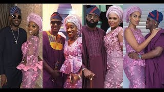 Fashionable Celebrity Couples at Banky W & Adesua Etomi Traditional Marriage