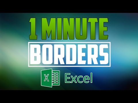 Excel 2016 : How to Add Borders