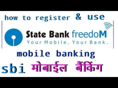 how to register and use sbi mobile banking