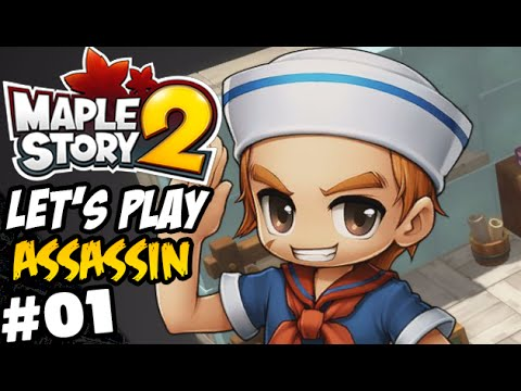 [ Maplestory 2 ] Lets Play Assassin Part 1 - Levels 1-10 - Tutorial Trials!