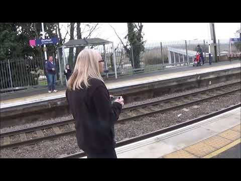 Belting through Benfleet, steam train, 2nd December 2017