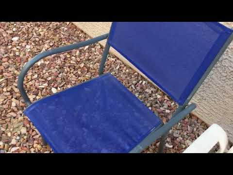 DIY - Convert Old Outdoor Cloth Chairs to WOOD