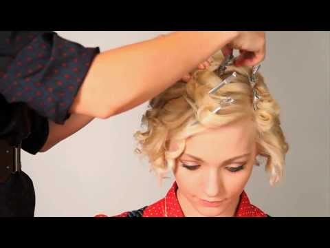 Fingerwave Hair Tutorial - How to get soft retro curls using curling iron