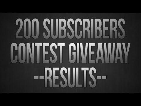 200 Subscribers Contest Results