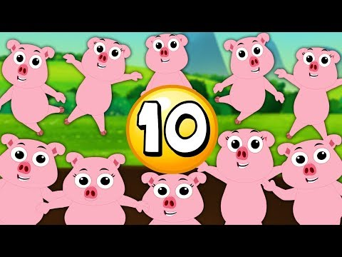 Ten Little Piggies | Kindergarten Nursery Rhymes For Kids