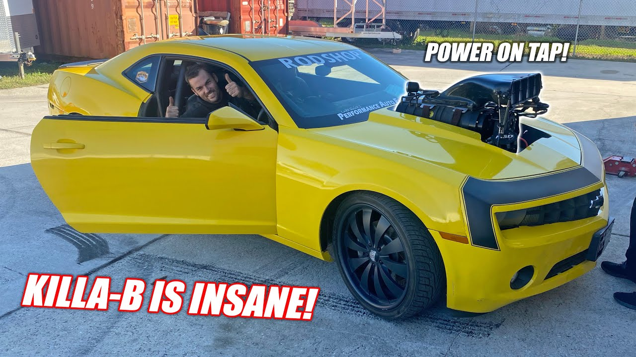 Our FIRST DRIVE In the 1,700 Horsepower Supercharged Big Block KILLA-B!! (melts tires instantly)
