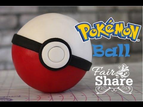 Pokemon Go Pokeball fondant tutorial