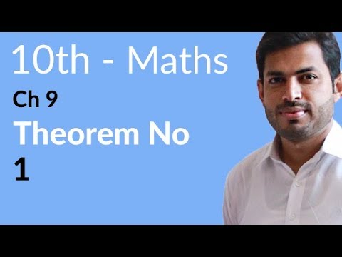 10th Class Maths solutions ,ch 9, lec 1, Exercise 9 Theorem no 1, -Matric Part 2
