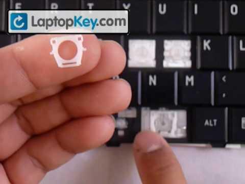 How to Repair Laptop Space bar Spacebar Keyboard Key | Install Guide Toshiba Satellite