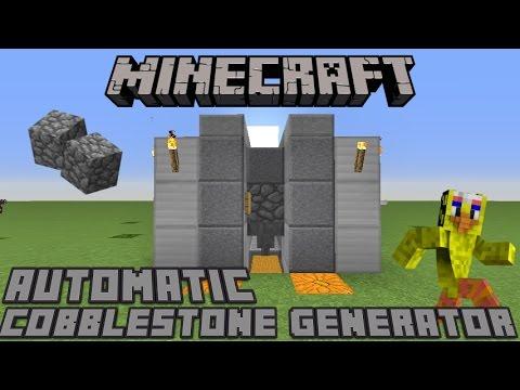 MINECRAFT AUTOMATIC COBBLESTONE GENERATOR 1.11 & 1.12 / MCPE / Wii U / Xbox