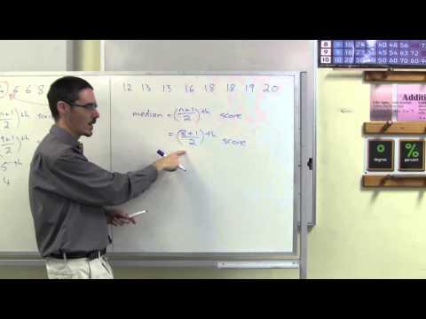 Using the median formula