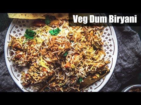 Veg Biryani Recipe | Restaurant Style Hyderabadi Veg Dum Biryani Recipe