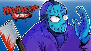 Friday The 13th - DLC RETRO JASON!!! (WHO PAINTED ME PURPLE?!!)