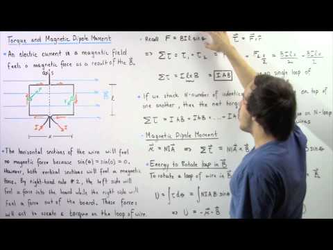 Magnetic Torque and Magnetic Dipole Moment