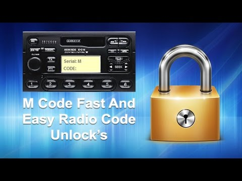 How To Find Ford M Radio Code Unlock Using Serial
