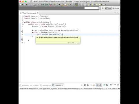 Read User Input into an Array List (Java)