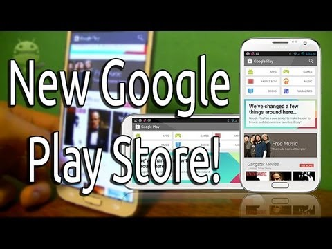 The New Android Google Play Store 4.0 Download and Review! (2013)