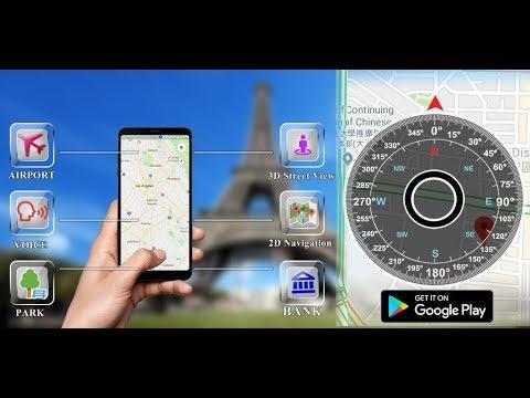GPS Front View Map: Live Compass Polar Navigation,