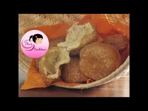 [ENG-SUB] Hollow Bread/ Vietnamesische Sesam Krapfen/ Banh Tieu