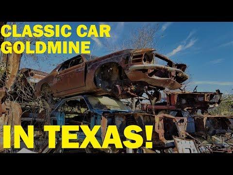 Exploring a Classic Car Goldmine in Texas! Johns Salvage - Part 1