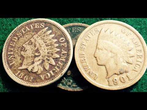 High & Low Valued Indian Head Pennies (1859-1909)